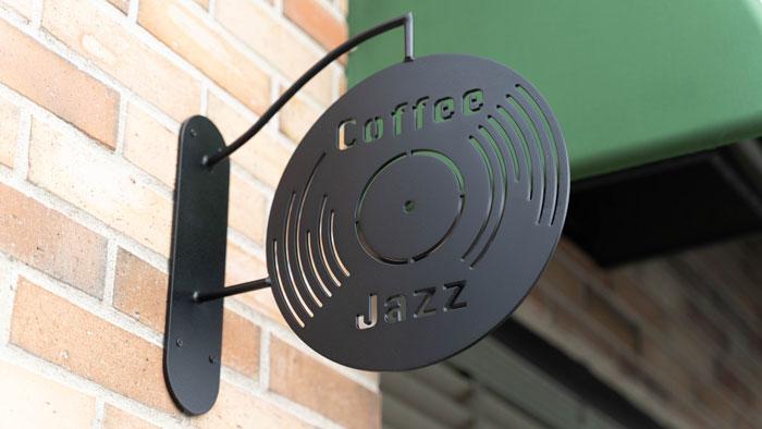 「ジャズ喫茶トレイン」看板の画像