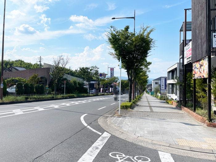 「和CHILL(わちる)朝日屋」前の通りの画像