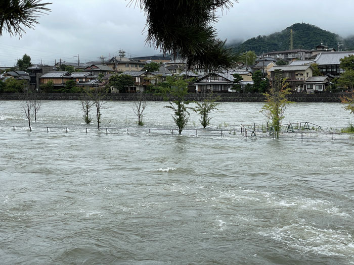 8月19日の宇治川の画像