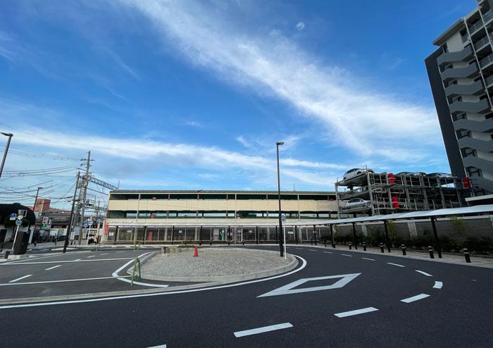寺田駅西側のロータリー画像1
