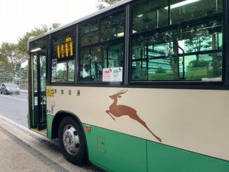 奈良交通のバスの画像