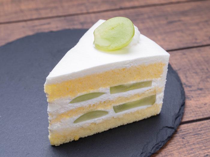 マスカットのケーキの画像
