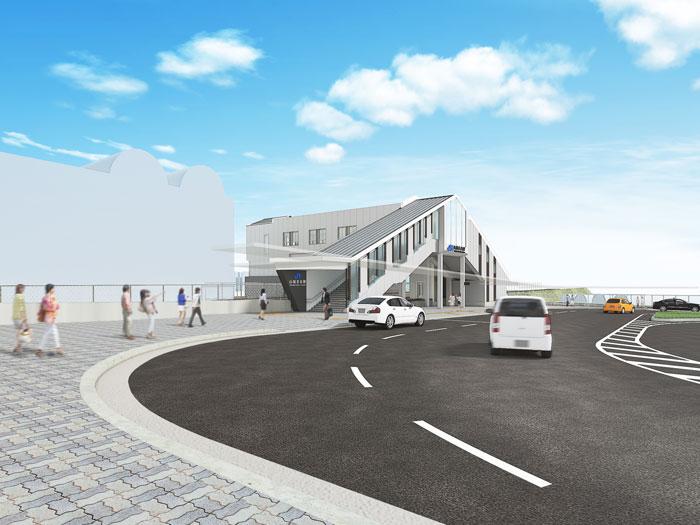 JR山城青谷駅西側完成パース